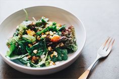 Green Salad of Nectarines, Corn & Peanuts . Sprouted Kitchen