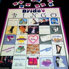 *BRIDE BINGO* for the wedding shower! All things that symbolize relationship