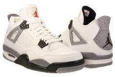 Nike Air Jordan Retro 4 IV White / Black / Cement Grey