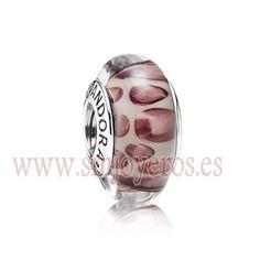 Cristal de murano Pandora en plata de ley. Leopardo Morado  REFERENCIA: PA790943  Fabricante: Pandora
