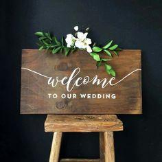 Welcome wedding signage Wedding Entrance, Tent Wedding, Wedding Signage, Diy Wedding, Rustic Wedding, Wooden Wedding Signs, Perfect Wedding, Wedding Ceremony, Wedding Photos