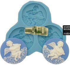 Allforhome 3 Cavity mini Angel Silicone Sugar Resion Craft Moulds DIY Cake Decorating Fondant Mold -- More info could be found at the image url.
