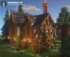 Minecraft Medieval House, Minecraft House Plans, Minecraft Cottage, Cute Minecraft Houses, Minecraft House Tutorials, Minecraft Castle, Minecraft House Designs, Amazing Minecraft, Minecraft Blueprints