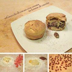 Un desiderio improvviso di qualcosa di diverso? Arricchite la pasta brisèe con le carote e riempitela di gnocchi al cacao e crema...e il gioco è fatto!