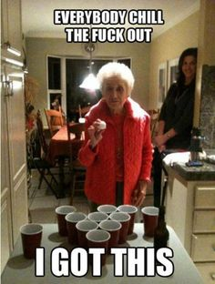 Grandmama still has her party on