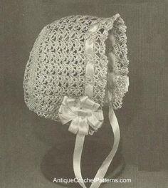 Cute Baby Bonnet - Free Crochet Baby Bonnet Pattern