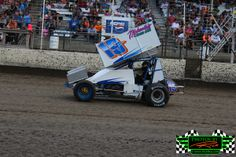 #19 Outlaw Sprint Car Driver Ryan Wilson from Superior WI in front of a sold out crowd at The Legendary Bullring River Cities Speedway in Gr...