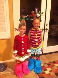 Whoville Christmas Costumes. I'm going to attempt to replicate this for the preschool Christmas program!