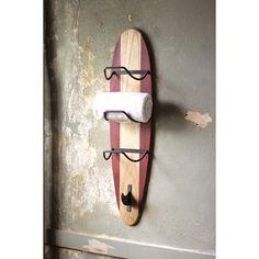 DIY inspiration-Longboard Towel Rack