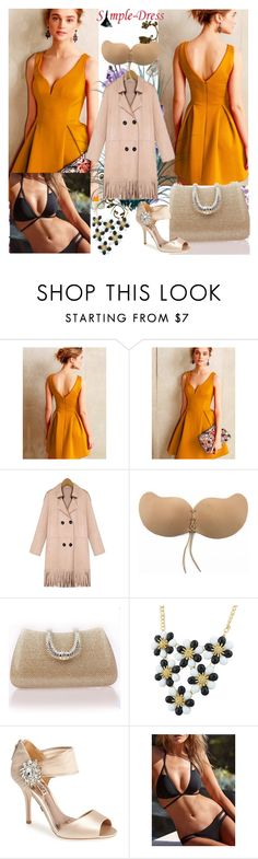 """www.simple-dress.com 10"" by ane-twist ❤ liked on Polyvore featuring Badgley Mischka, Nikon, Laura Cole and simpledress"