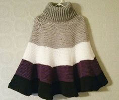 4 Color Cowl Cape by SlipStitchJoin on Etsy