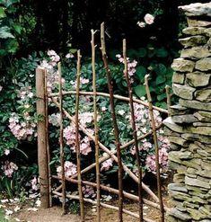 vignette design: Rustic Gardens: A Feast for the Senses Rustic Gardens, Outdoor Gardens, Modern Gardens, Dream Garden, Garden Art, Garden Gates And Fencing, Arbor Gate, Fence Gate, Vignette Design