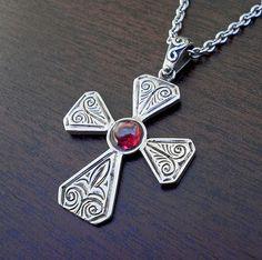 Greek Cross necklace Orthodox cross necklaceByzantine cross