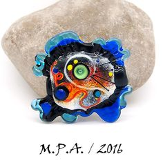 AGAUE - (Ancient Greek) - Glass Art - Lampwork focal bead by Michou P. Anderson by michoudesign on Etsy