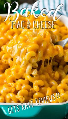 This baked mac and cheese is a blend of tender noodles in a rich and creamy cheese sauce, topped off with more cheese and baked to perfection. Stovetop Mac And Cheese, Bake Mac And Cheese, Macaroni And Cheese, Easy Casserole Recipes, Casserole Dishes, Cookbook Recipes, Cooking Recipes, Baked Mac, Best Cheese