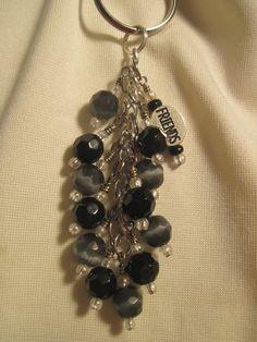 Black Glass Bead Purse Charm / Key Chain by FoxyFundanglesByCori, $10.00