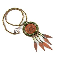 Faroth bead embroidery pendant OOAK by Taurielscraft on Etsy, $63.00