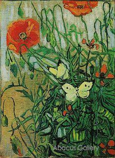 "van Gogh ~ ""Butterflies and Poppies"" ~ 1890"