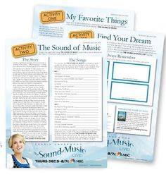 Free Lesson Plans for The Sound of Music LIVE!