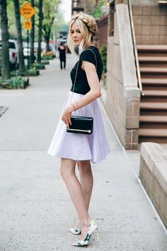 Periwinkle - Barefoot Blonde by Amber Fillerup Clark Milkmaid Braid, Amber Fillerup, Barefoot Blonde, Dress And Heels, Up Girl, Spring Summer Fashion, Spring Style, Street Style Women, Pretty Outfits