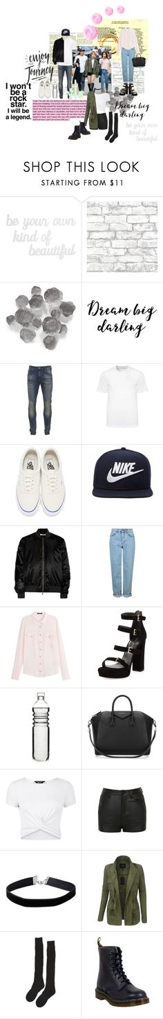 """% THE GOOD, THE BEAR, AND THE LOVELY."" by starkindustrees ❤ liked on Polyvore featuring PBteen, Brewster Home Fashions, Palecek, Scotch & Soda, Versace, Vans, NIKE, Givenchy, Topshop and Balmain"