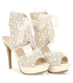 Sexy Lace and Stiletto Design Sandals For Women Lace Heels, Shoes Heels Boots, Dress Shoes, Bride Shoes, Wedding Shoes, Crazy Shoes, Me Too Shoes, Cheap Sandals, Women's Sandals