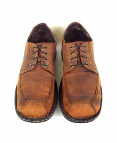 Born Shoes Leather Brown Comfort Distressed Casual Lace Up Oxfords Mens 12 M   eBay