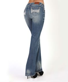 Look at this #zulilyfind! Adiktd Light Wash Sequin Musical Bootcut Jeans by Adiktd #zulilyfinds