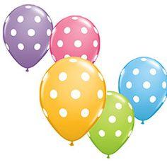 "Polka Dot 11"" Latex Balloons Assortment"