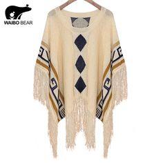 New Winter Bat sleeve Cape sweater Women O Neck big size Tops Poncho Shawl Cape Sweater Blusas Femininas Love it? http://www.lady-fashion.net/product/waibo-bear-new-2016-winter-bat-sleeve-cape-sweater-women-o-neck-big-size-tops-poncho-shawl-cape-sweater-b