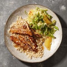 Orange-Sesame Pork with Napa Slaw | MyRecipes.com #myplate