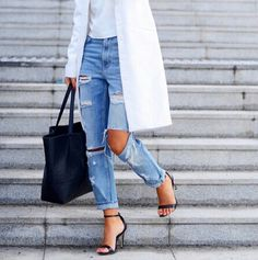 Simple Roupas Casual Chic, Casual Chique, I Love Fashion, Passion For Fashion, Fashion Beauty, Fashion Shoes, Denim Fashion, Fashion Black, Fashion Clothes