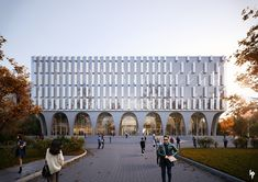 Hankuk University of Foregn Studies Library on Behance Arcade Architecture, University Architecture, Library Architecture, Tropical Architecture, Classic Architecture, Architecture Details, High Building, Building Facade, Brick Arch