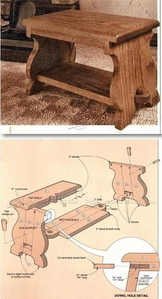 Foot Stool Plans - Furniture Plans and Projects | WoodArchivist.com #woodworkingbench