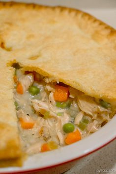 What's the first thing that comes to mind when you think of a hearty comfort food? Mine has always and will always be chicken pot pie. Chicken, veggies, cream, and a crunchy, flaky pastry? Yes plea...