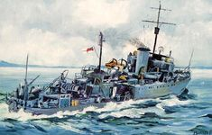Radio Research Paper - Bangor Class Radio Fit Royal Canadian Navy, Royal Navy, Military Art, Military History, Ship Paintings, Naval History, Nautical Art, Historical Art, Navy Ships