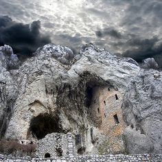 Gornjak Monastery carved into limestone rocks.  Ježevac Mountain - Eastern Serbia