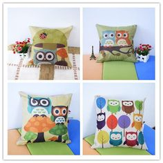 Best price on Owl Printed Pillow Decorative Pillow Case Owl Bedding Set Princess…