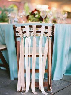 Adorable chair decoration ideas! - weddingfor1000.com ribbons