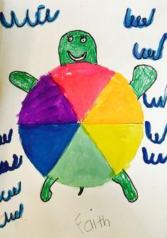 Color Wheel Projects, Art Projects, School Projects, School Ideas, Kindergarten Colors, Kindergarten Science, Preschool, Color Wheel Art, Turtle Crafts