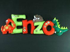 Nome Em Feltro Enzo | Lili Mosaico & Artesanato | 3357AA - Elo7