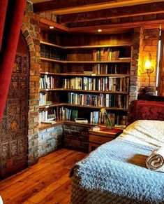 40 Best Ideas For Bedroom Cosy Bookshelves Dream Bedroom, Home Bedroom, Bedrooms, Library Bedroom, Home Libraries, Cozy Place, Trendy Bedroom, Log Homes, Cabana