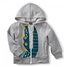 Tea Collection Dragon Teeth Zip-Up Baby Hoodie