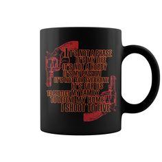 Shoot To Live HOT MUG Coffee Mug, Papa Mug, Cool Mugs, Funny Coffee