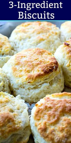 Biscuit making doesn't get any simpler than these Biscuits. Slather them with butter and you won't believe how deliciously light and tender these biscuits are. There's actually 2 ways to make Biscuits Buttery Biscuits, Easy Buttermilk Biscuits, Recipes With Buttermilk, Quick Biscuits, Biscuits From Scratch, Tea Biscuits, Drop Biscuits, Buttermilk Biscuit Recipe With Self Rising Flour, Biscuit Recipe Without Shortening