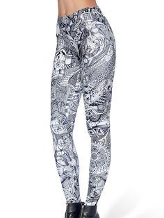 The Mindfield MF Leggings (AU - 48HR $75AUD / US - LIMITED $60USD) by Black Milk Clothing