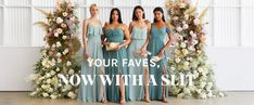 Slit Collection – Birdy Grey Emerald Green Bridesmaid Dresses, Dusty Blue Bridesmaid Dresses, Just Shop, Welcome To The Party, Bridal, Wedding Dresses, Grey, Sea Glass, Collection