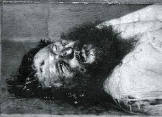 Raspoutine mort, photo d'autopsie avec un trou de balle dans le front, provoqué par un fusil de l'armée britannique