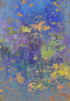 'Meadow' by David Mowbray Abstract Flowers, Watercolor Flowers, Abstract Art, Landscape Art, Landscape Paintings, Oil Paintings, Paul Klee, Sparkle Paint, Flower Doodles
