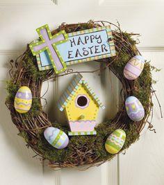 Happy Easter Outdoor Wreath